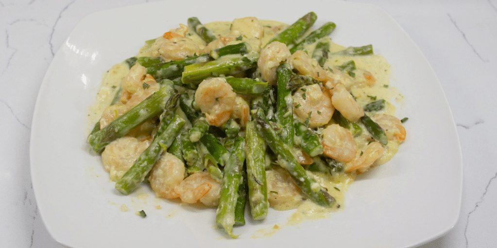 Keto Creamy Shrimp with Asparagus